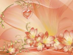праздничные, день святого валентина,  сердечки,  любовь, сердечко, цветы
