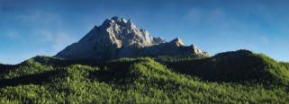 3д графика, природа , nature, горы, лес