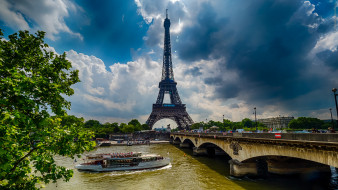 города, париж , франция, башня