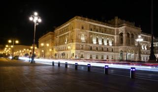 города, - огни ночного города, ночь, площадь