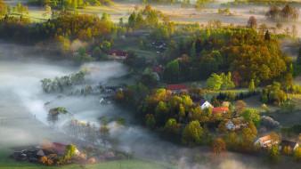города, - пейзажи, landscape, canon, mist, light, spring, iza, darek
