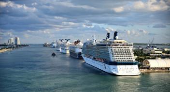 port miami, корабли, лайнеры, лайнер, круиз