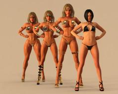 3д графика, фантазия , fantasy, девушки, взгляд, фон