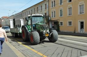 техника, тракторы, город, улица, трактор