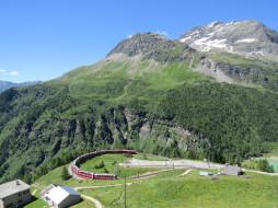 техника, поезда, горы, поезд