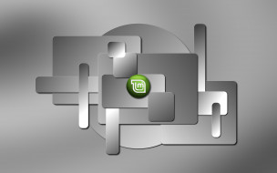 компьютеры, linux, логотип, фон