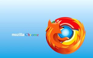 компьютеры, mozilla firefox, фон, логотип
