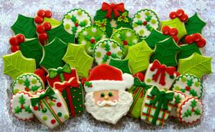 праздничные, угощения, пряники, фигурные, новогодние