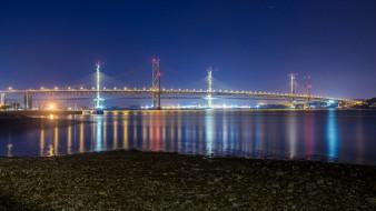 города, - мосты, мост, река, ночь