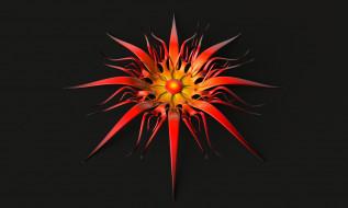 3д графика, цветы , flowers, лепестки, фон