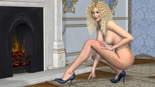 эротика, блондинки, блондинка, грудь, девушка, взгляд, фон