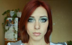 девушки, lana branishti, лицо, рыжая, пирсинг, календарь