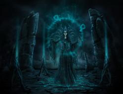 фэнтези, демоны, магия, взгляд, фон, девушка