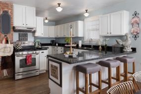 интерьер, кухня, мебель, дизайн, стулья, стиль, плита, декор