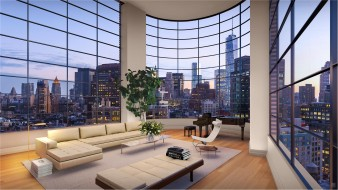 интерьер, гостиная, окно, стол, диваны, дома