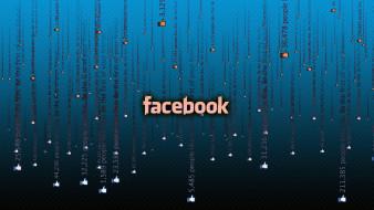 компьютеры, facebook, зимний, лес, снег, зима