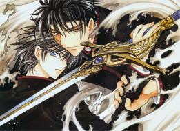 аниме, парни, меч