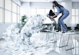 юмор и приколы, indigo, studios, девушка, стул, офис, атака, рендеринг, бумаги, ситуация, усталость, служащий, кипа