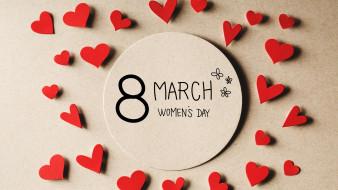 праздничные, международный женский день - 8 марта, 8, марта, women's, day, hearts, сердечки