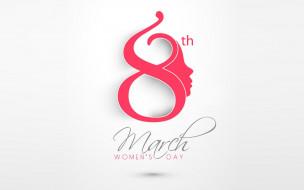 праздничные, международный женский день - 8 марта, holiday, date, minimalism, march, 8, calendar, women's, day