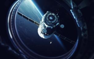 полет, вселенная, галактика, космический корабль