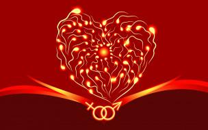 праздничные, день святого валентина,  сердечки,  любовь, графика