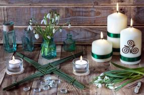 разное, свечи, подсвечники, подснежники
