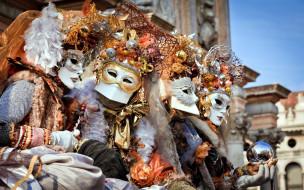 разное, маски,  карнавальные костюмы, карнавал, венеция