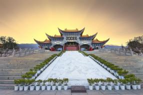 города, - здания,  дома, архитектура, древнего, китая