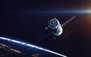 галактика, полет, вселенная, космический корабль