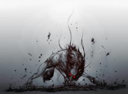 фэнтези, оборотни, волк, фон, взгляд, глаза