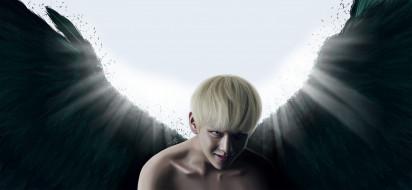 фэнтези, ангелы, bangtan, boys, музыка, ангел, bts, арт, kim, tae, hyung