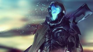 фэнтези, роботы,  киборги,  механизмы, cyberpunk, броня, плащ, солдат, киборг, фантастика, оружие, смерть