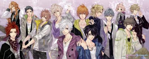аниме, brothers conflict, братья, парни