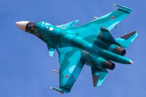 Su-34 обои для рабочего стола 2048x1365 su-34, авиация, боевые самолёты, бомбардировщик