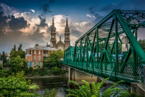 обои для рабочего стола 1920x1280 города, - мосты, река, мост, шпили