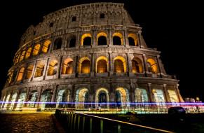 города, - исторические,  архитектурные памятники, ночь, огни