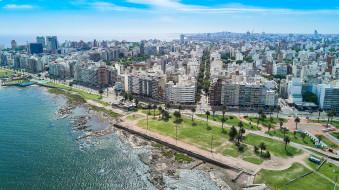 обои для рабочего стола 2048x1150 города, - панорамы, побережье
