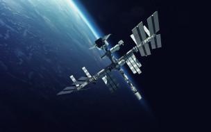 вселенная, космический корабль, спутник, полет, галактика