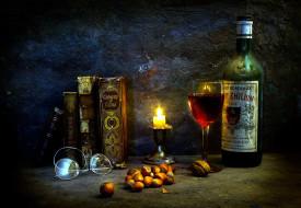 обои для рабочего стола 2048x1417 бренды, бренды напитков , разное, свеча, орехи, вино