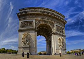 arc de triomphe,  paris, города, париж , франция, арка