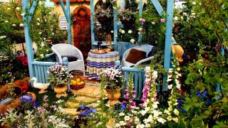 интерьер, веранды,  террасы,  балконы, цветник, беседка