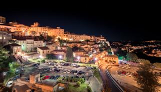via arco romano,  narni,  umbria, города, - огни ночного города, ночь