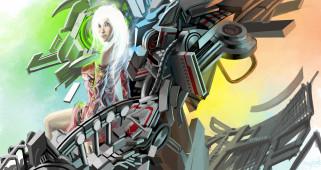 фэнтези, роботы,  киборги,  механизмы, взгляд, фон, девушка