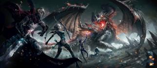 фэнтези, драконы, фон, оружие, взгляд, девушки, дракон