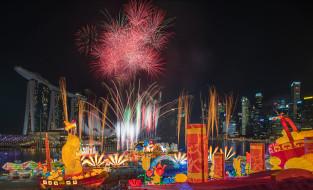 singapore, города, сингапур , сингапур, фейерверк