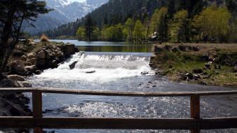 природа, реки, озера, камни, река, лес, горы