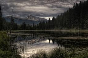природа, реки, озера, горы, деревья, лес, озеро, облака, пейзаж