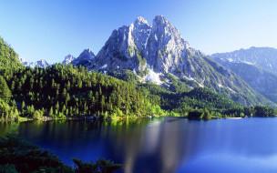 природа, реки, озера, деревья, лес, озеро, горы