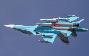 su-34, авиация, боевые самолёты, бомбардировщик